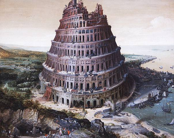 The tower of Babel, oil on panel, by Lucas van Valckenborch 1568, Source, Art and the Bible